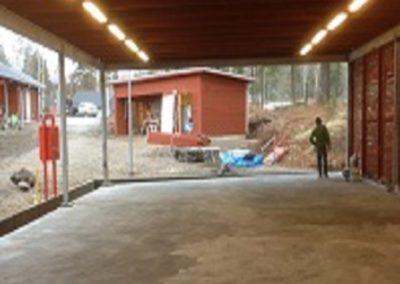 Nyproduktion av CBRN-bana, Haninge Garnison, Berga