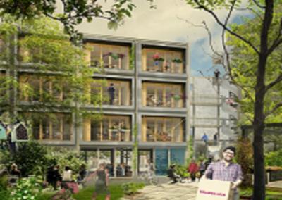 """Byggnation av """"Snabba hus"""" i Västberga, Stockholm"""