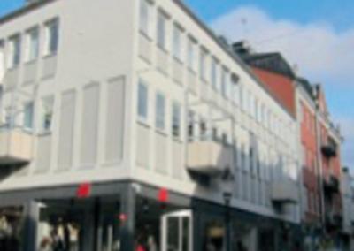 Ombyggnad av kv Borgaren 15 med butiker och lägenheter, Nyköping